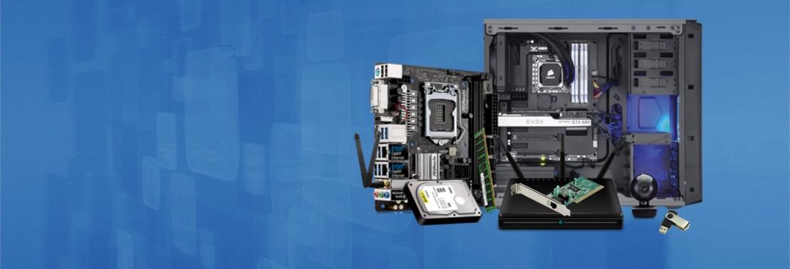 CPU, Schede Madri, Schede Video , Hard Disk, Network, Monitor e molto altro.